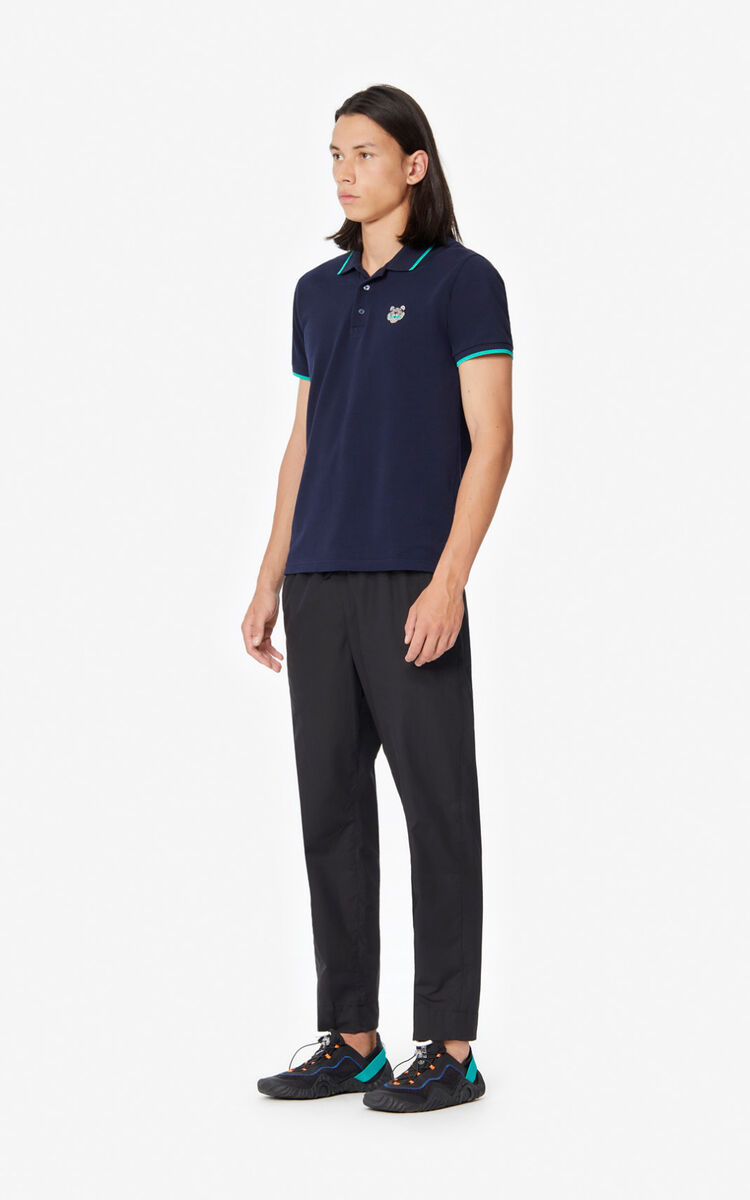 MIDNIGHT BLUE Fitted Tiger polo shirt for women KENZO