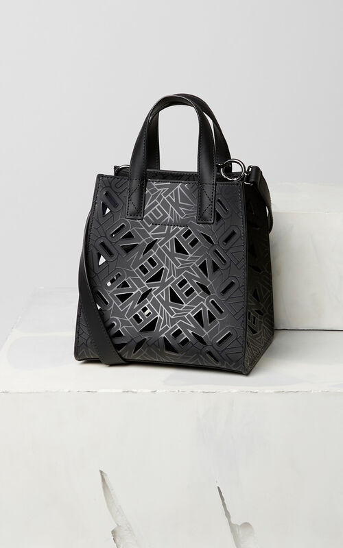BLACK Flying KENZO Mini Tote Bag for women