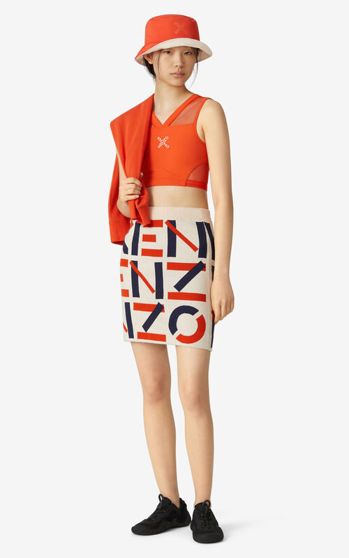BLUSH KENZO Sport jacquard monogram mini skirt for men