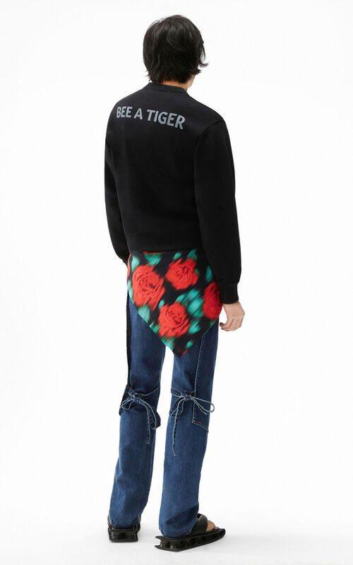 BLACK 'Bee a Tiger' sweatshirt for men KENZO