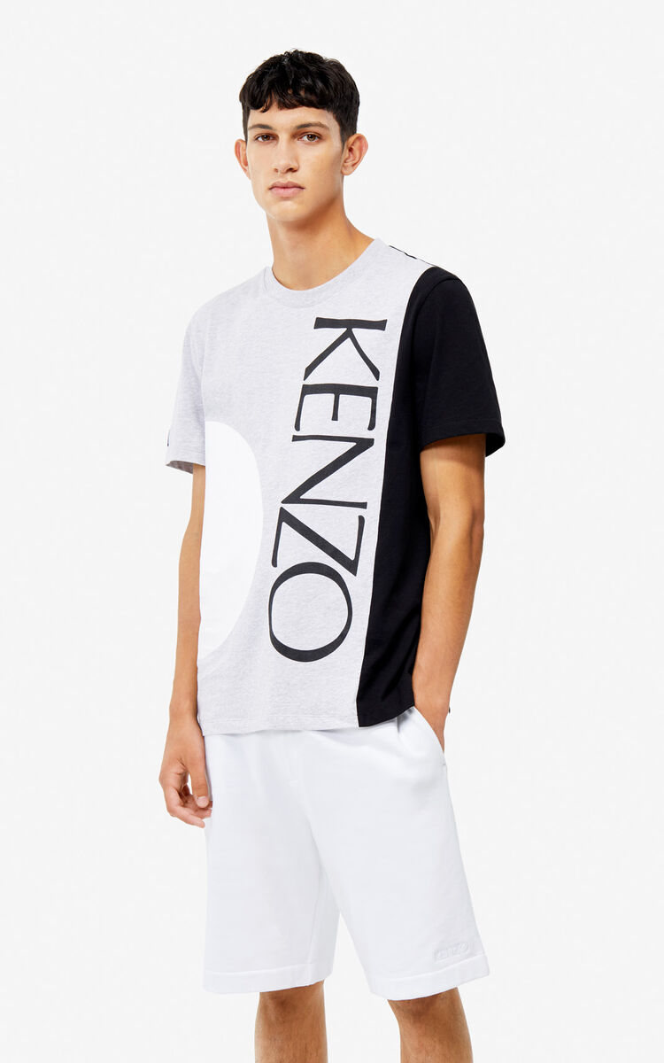 PEARL GREY 'Square Logo' T-shirt for women KENZO
