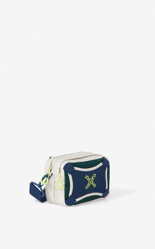 PALE GREY KENZO Sport bag with strap for unisex