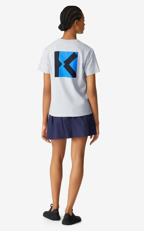 PALE GREY KENZO Sport 'Little X' loose-fitting T-shirt for women