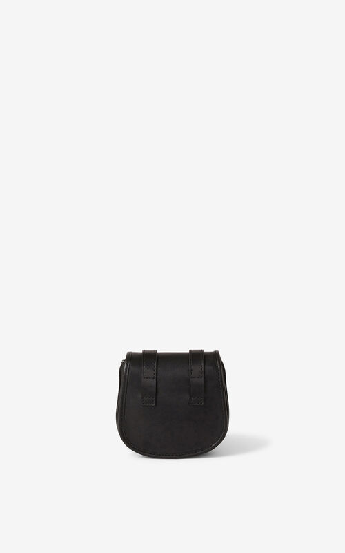 BLACK Courier mini leather messenger bag for unisex KENZO