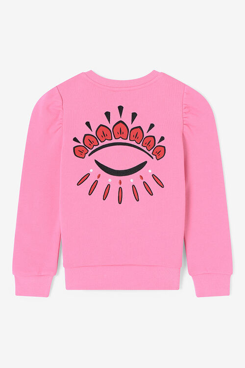 Winking Eyes Gathered Sweatshirt , ROSE, KENZO
