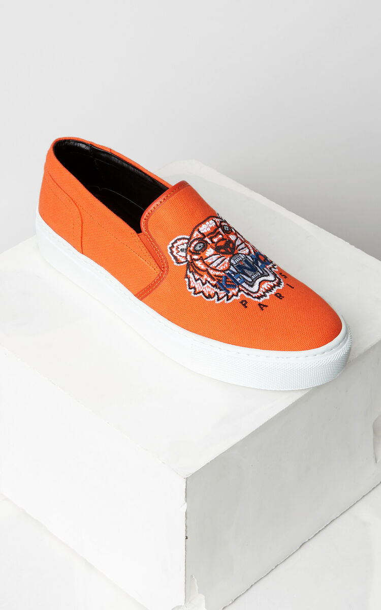 MEDIUM ORANGE Tiger slip-on for women KENZO