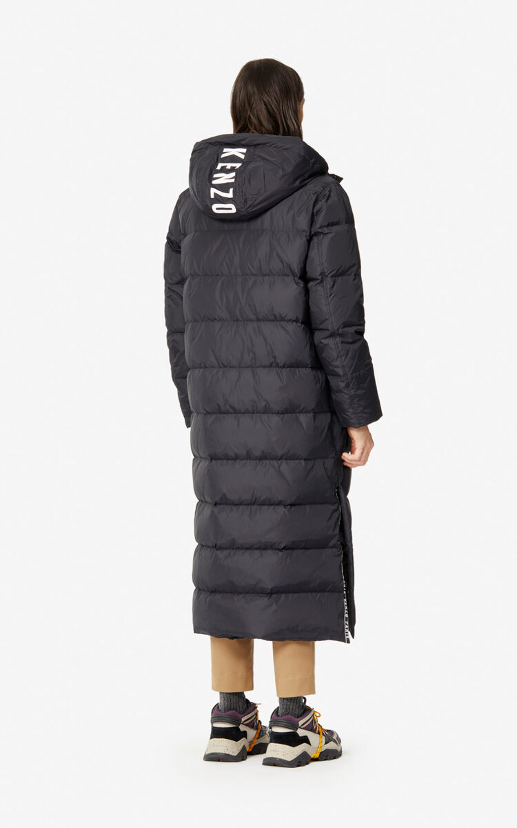 BLACK Long quilted 'Capsule Expedition' puffer jacket for men KENZO