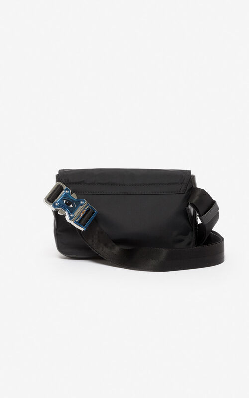 BLACK KENZO Paris crossbody bag for unisex