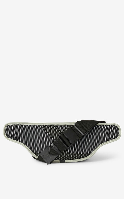 DOVE GREY KENZO Sport belt bag for unisex
