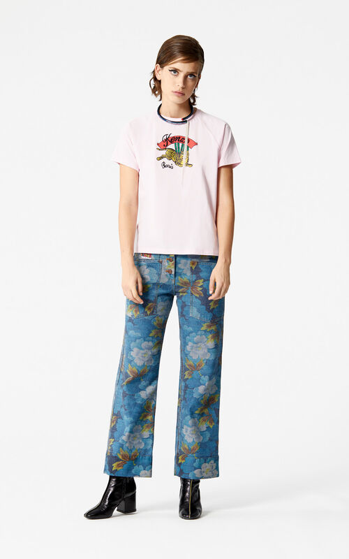 PASTEL PINK Bamboo Tiger' T-shirt 'Golden Week capsule' for women KENZO