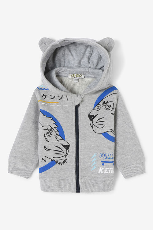 MIDDLE GREY Tiger Friends Hoodie for men KENZO