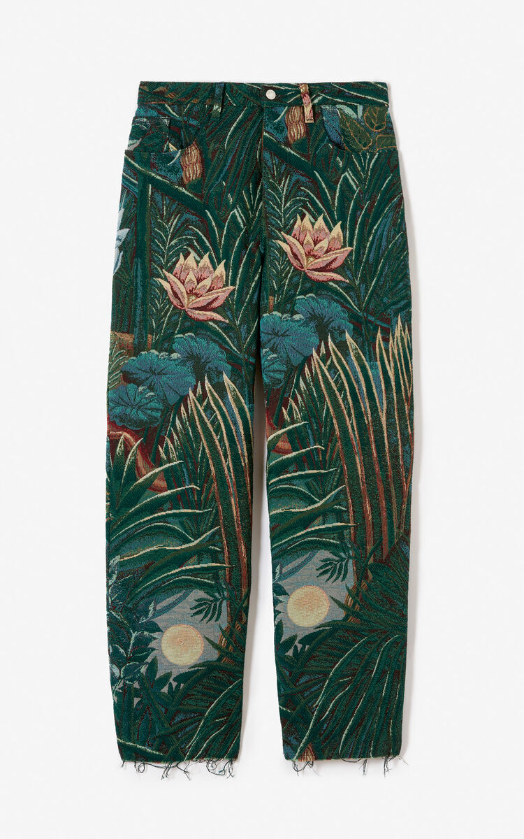 PINE Straight-cut jacquard trousers for men KENZO