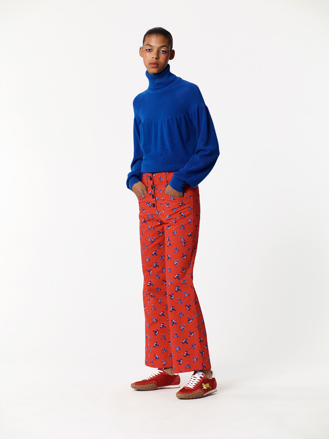DEEP SEA BLUE Turtleneck Sweater for women KENZO