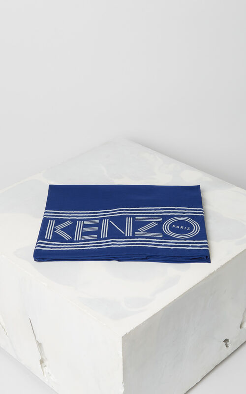 FRENCH BLUE KENZO logo scarf for unisex
