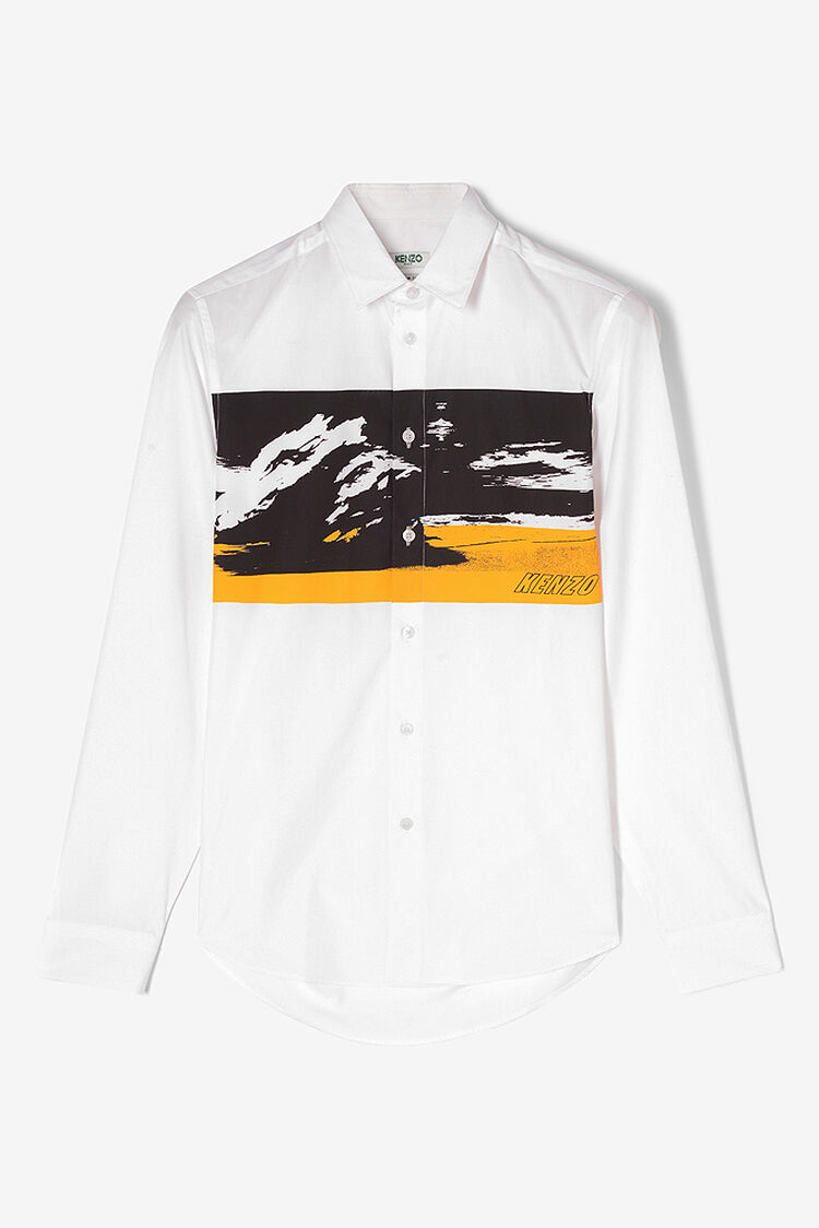WHITE Tropical Ice Abstract Shirt for women KENZO