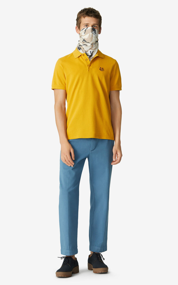 MARIGOLD Tiger Crest polo for men KENZO