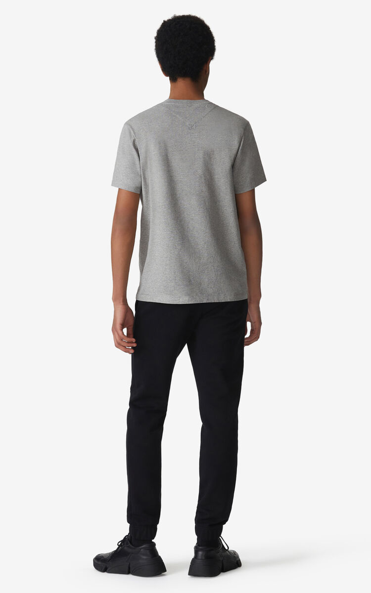 PEARL GREY Tiger Crest t-shirt for men KENZO
