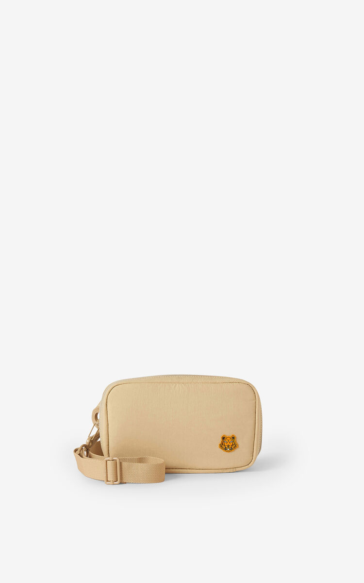 BEIGE Tiger Crest shoulder bag for unisex KENZO