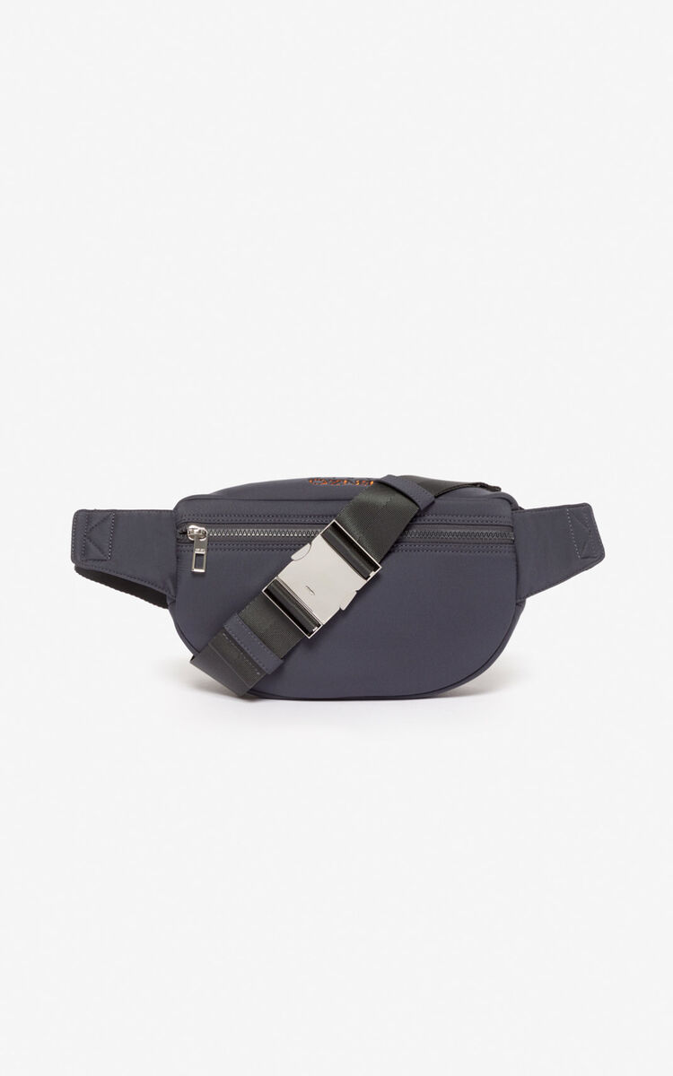ANTHRACITE Tiger bumbag in neoprene for unisex KENZO