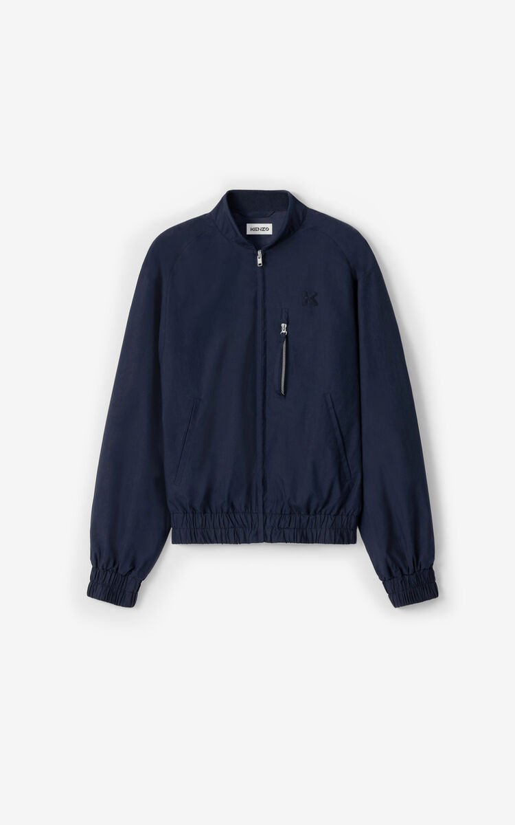 NAVY BLUE Zipped bomber jacket for women KENZO