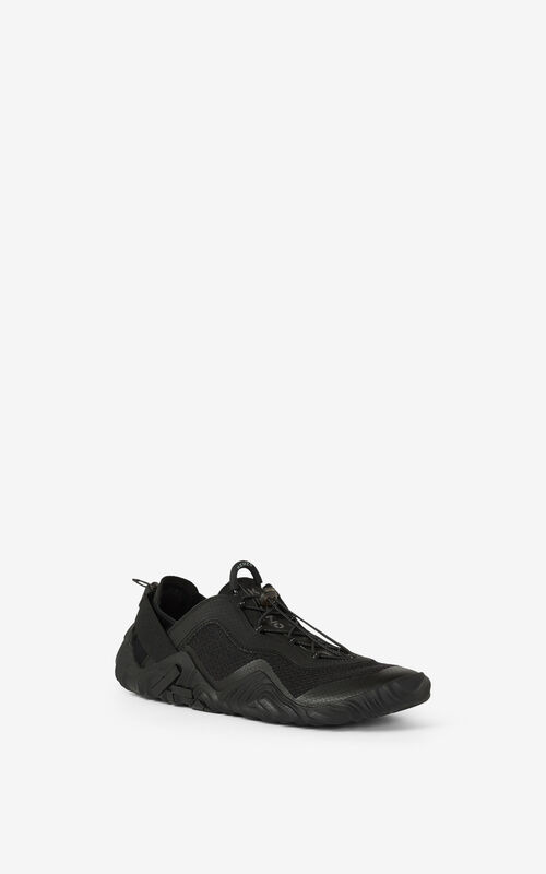 BLACK KENZO Sport Wave mesh sneakers for men