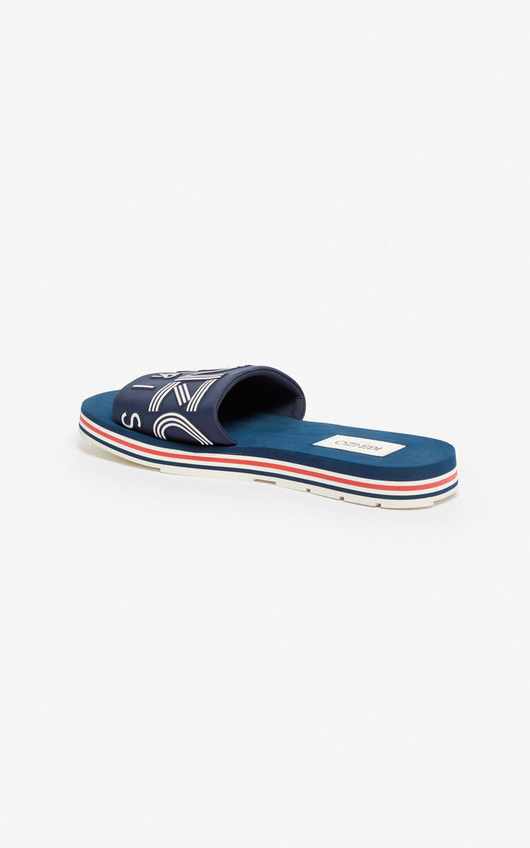 MIDNIGHT BLUE Papaya mules for unisex KENZO