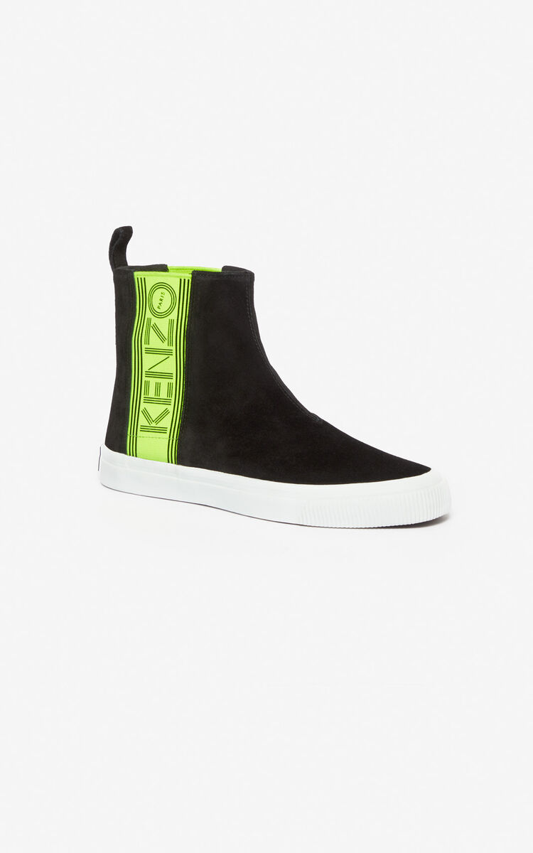 BLACK Kapri slip-on high top shoes for women KENZO