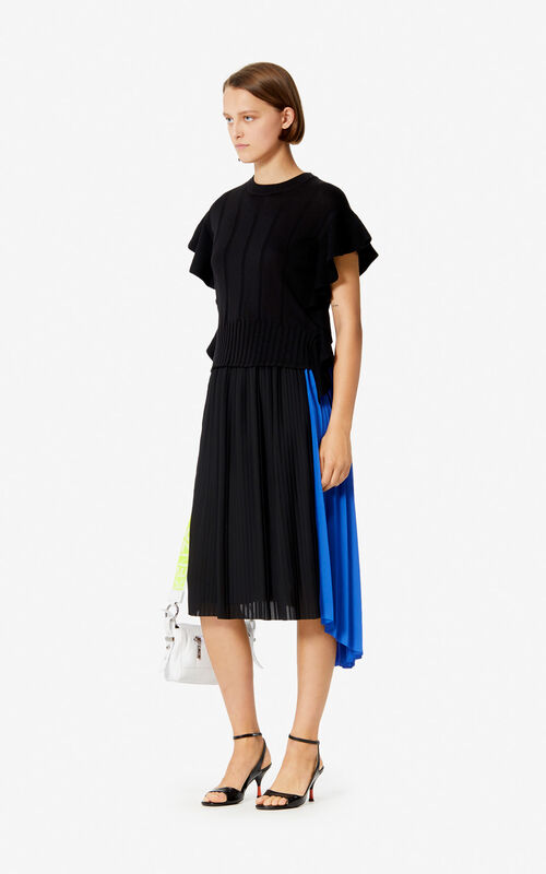 BLACK Ruffle top for women KENZO