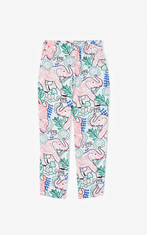 WHITE 'Disco Jungle' trousers for men KENZO