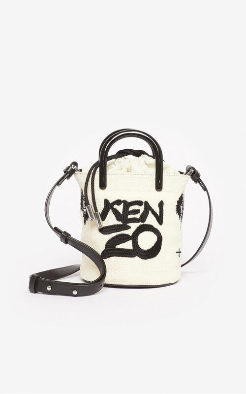 OFF WHITE 'Ikat' mini tote bag for unisex KENZO