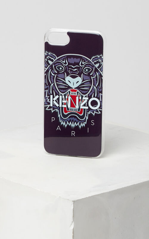 3D Tiger iPhone 7+ case, NAVY BLUE, KENZO