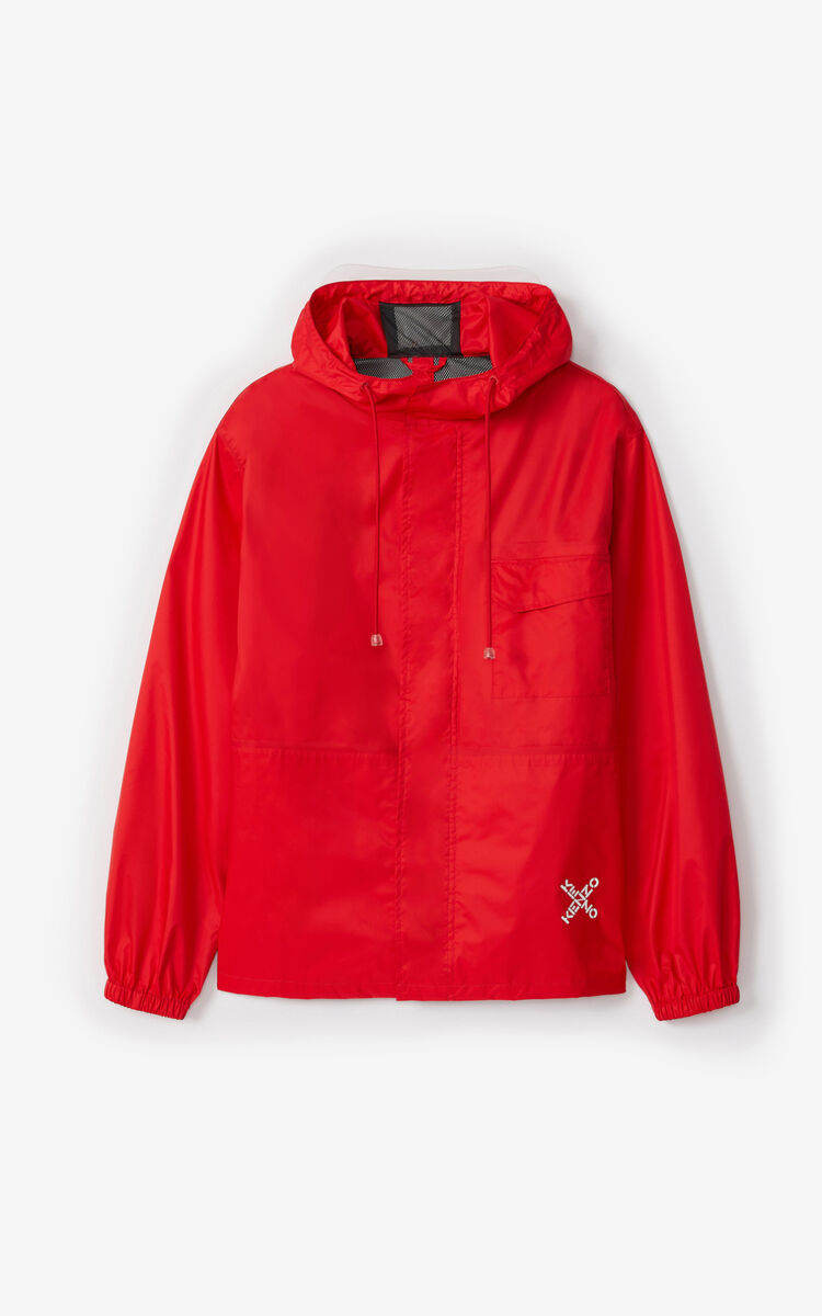 MEDIUM RED KENZO Sport 'Little X' short parka for men