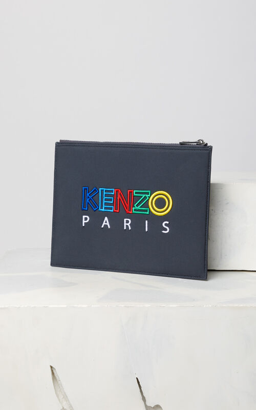 ANTHRACITE ' A4 Tiger neoprene cluth 'High Summer Capsule Collection' for unisex KENZO