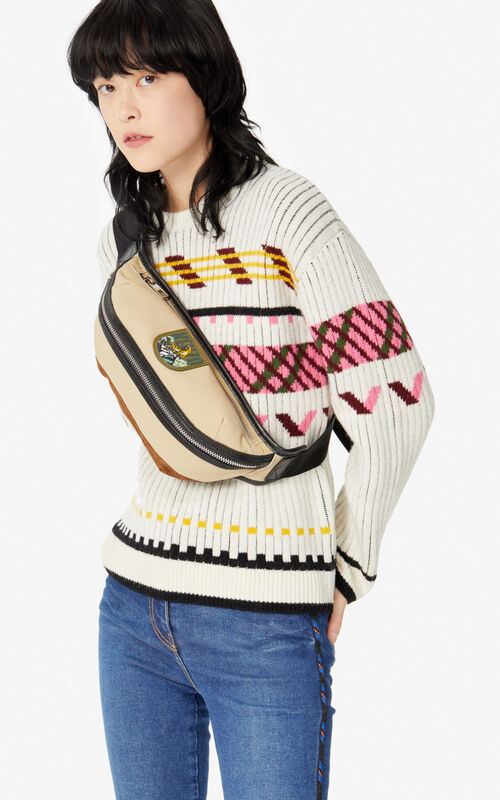 BEIGE 'Tiger Mountain' 'Capsule Expedition' bumbag for women KENZO