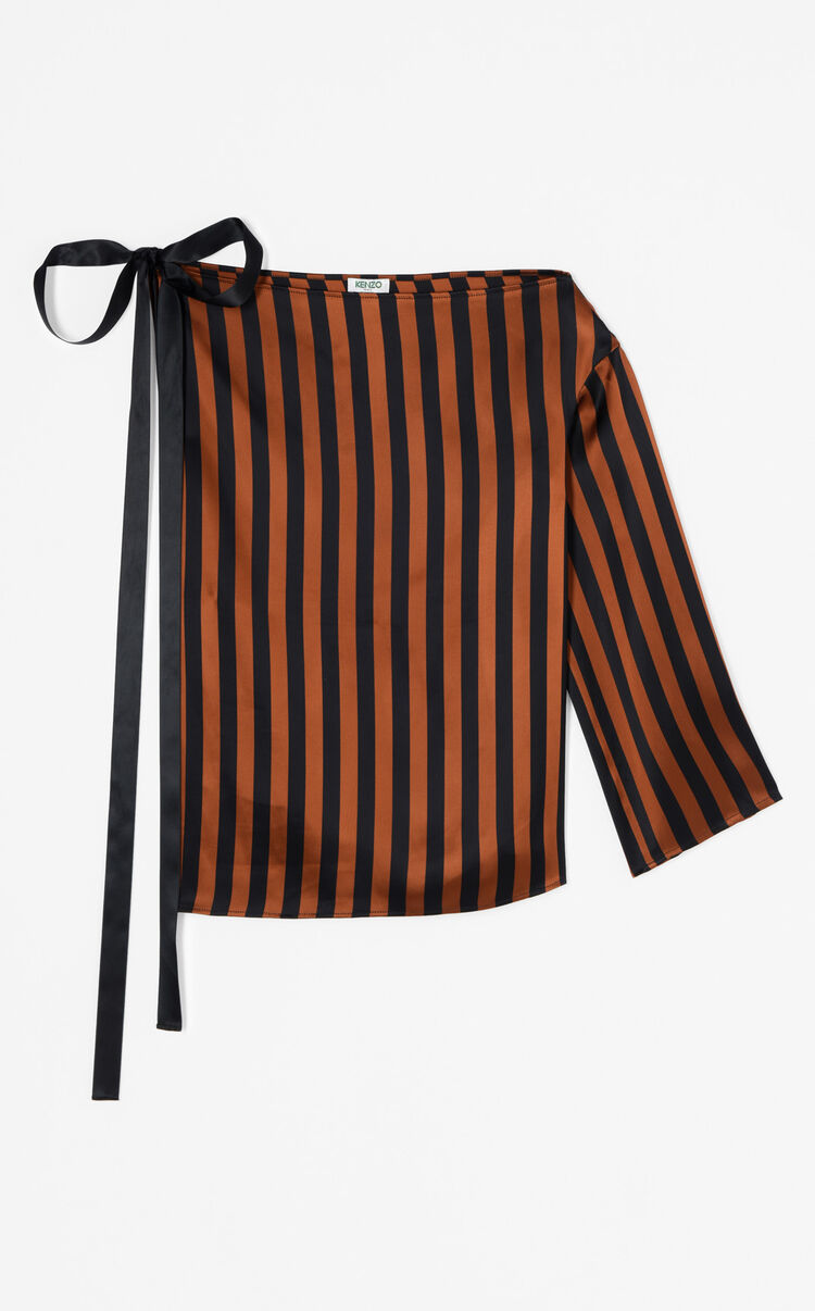 PAPRIKA Asymetrical top with stripes for women KENZO