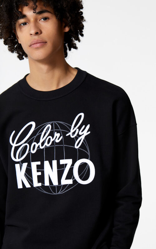 BLACK 'Color by KENZO' sweatshirt for men