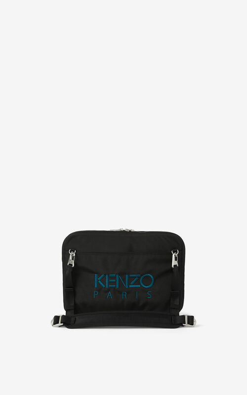 BLACK Kampus Tiger crossbody briefcase for unisex KENZO