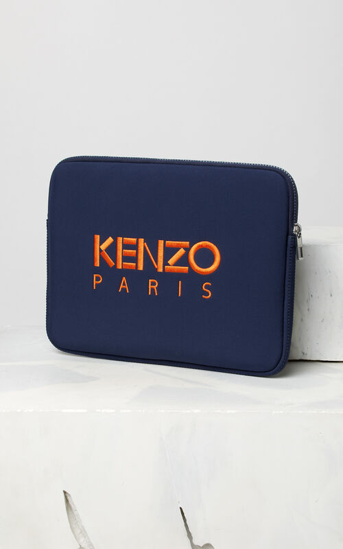 NAVY BLUE Tiger Computer Pouch for unisex KENZO