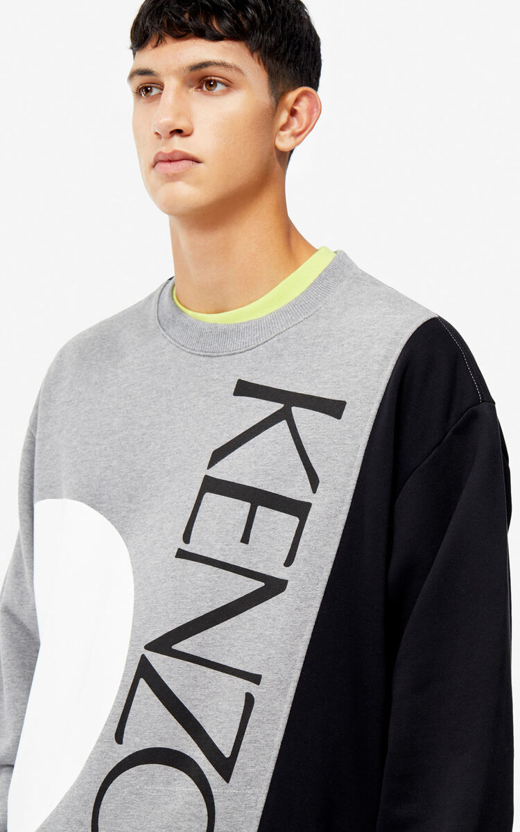 DOVE GREY Colorblock sweatshirt for women KENZO