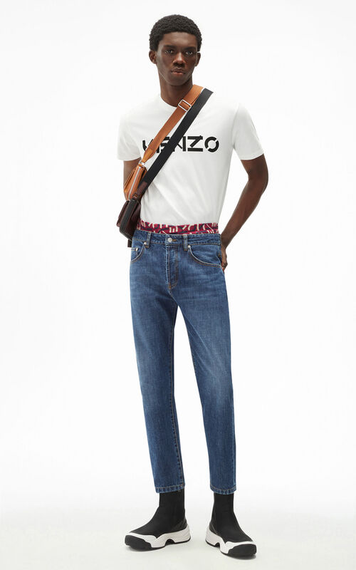 NAVY BLUE Cropped jeans for men KENZO