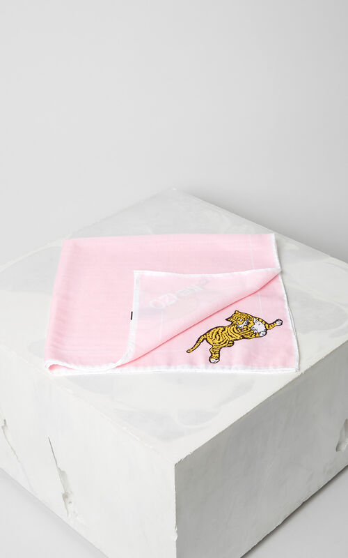FADED PINK 'Jumping Tiger' bandana for unisex KENZO