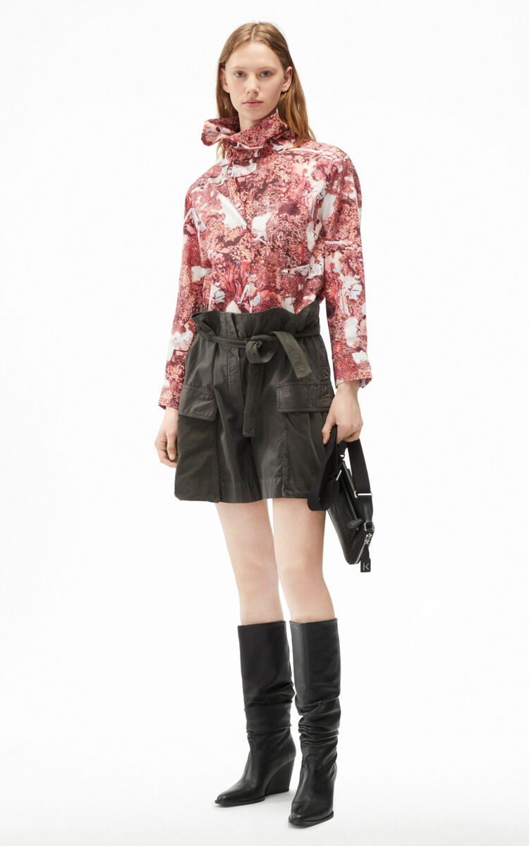 STONE GREY Belted shorts for women KENZO