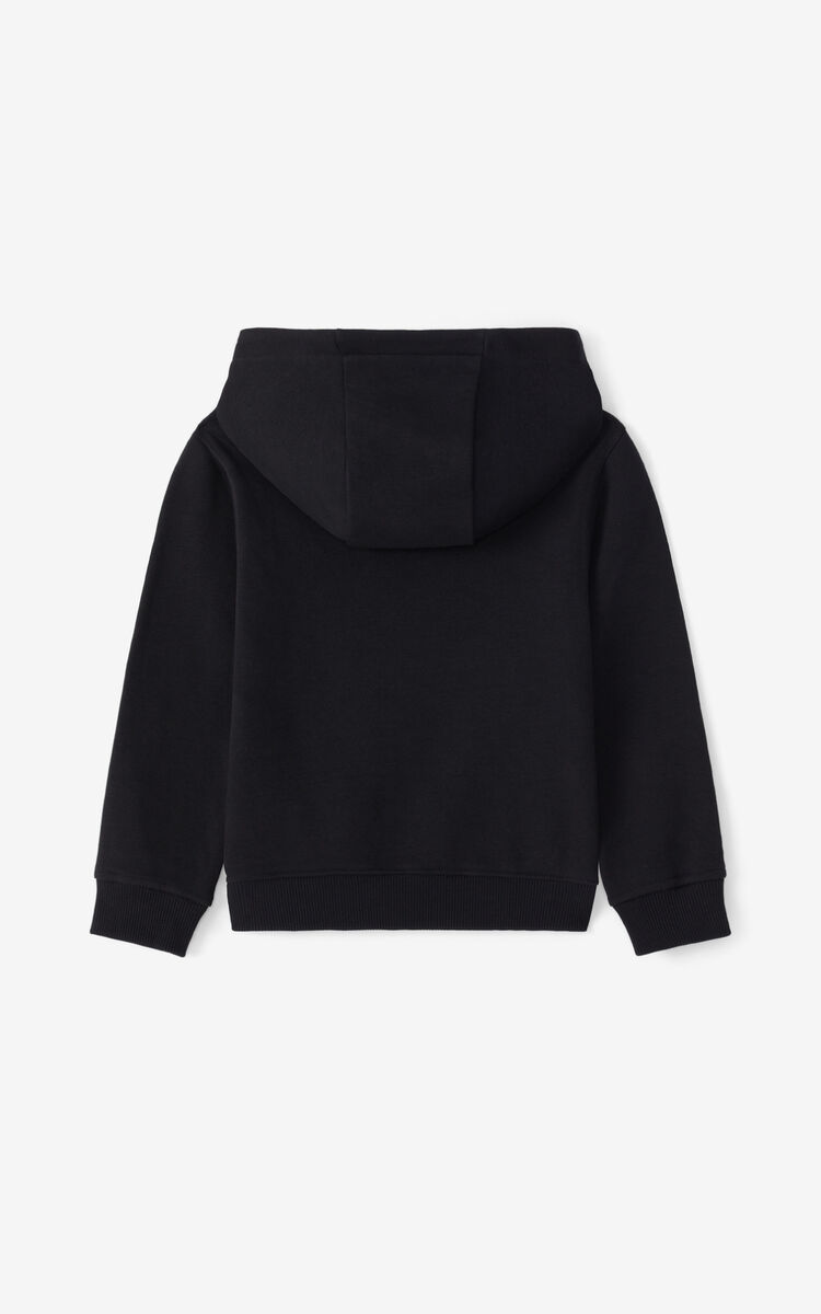 BLACK 'Disco Jungle' hoodie for women KENZO