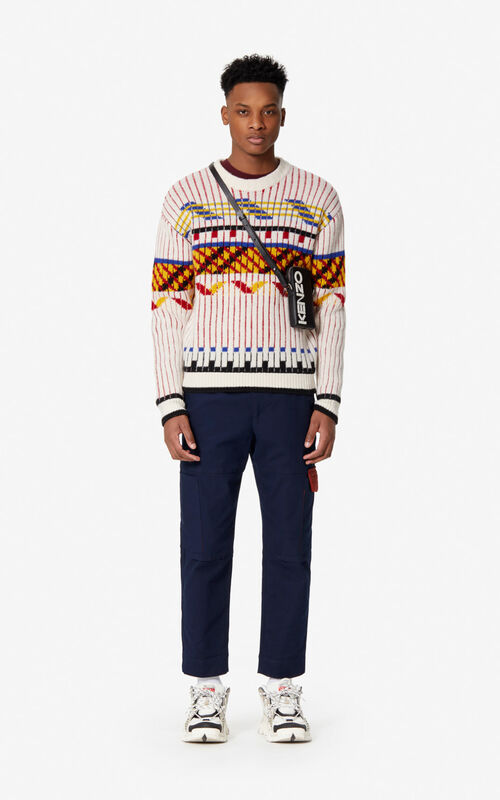 ECRU Peruvian wool jumper for men KENZO
