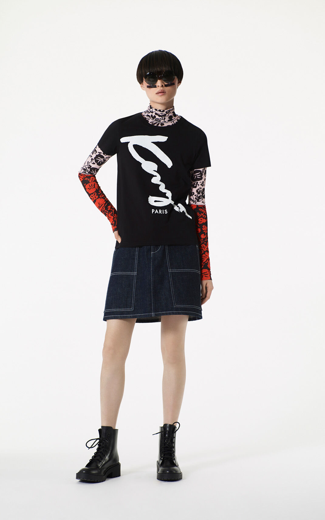 INK High waisted mini skirt for women KENZO
