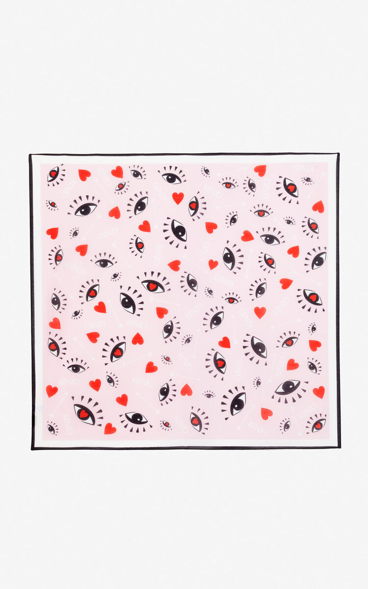 PASTEL PINK 'I ❤ KENZO Capsule' scarf for women