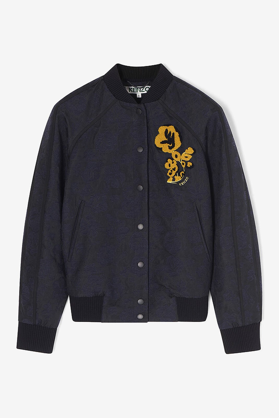 NAVY BLUE 'Floral Leaf' Letter Jacket for women KENZO