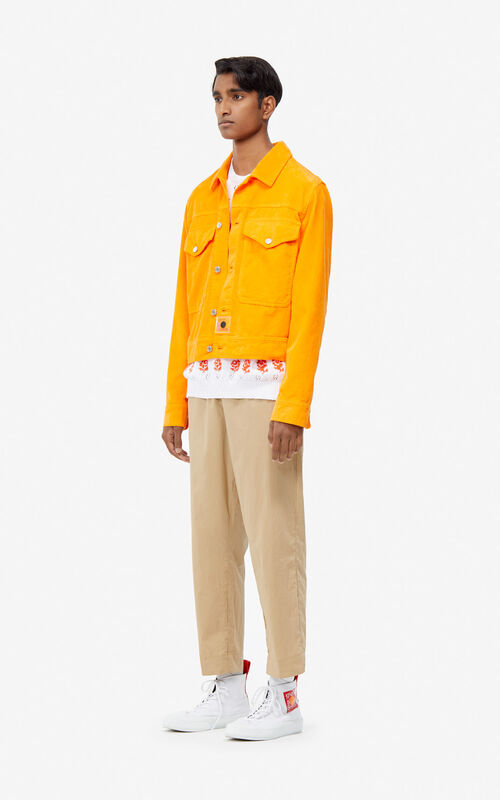 MEDIUM ORANGE Corduroy jacket for men KENZO