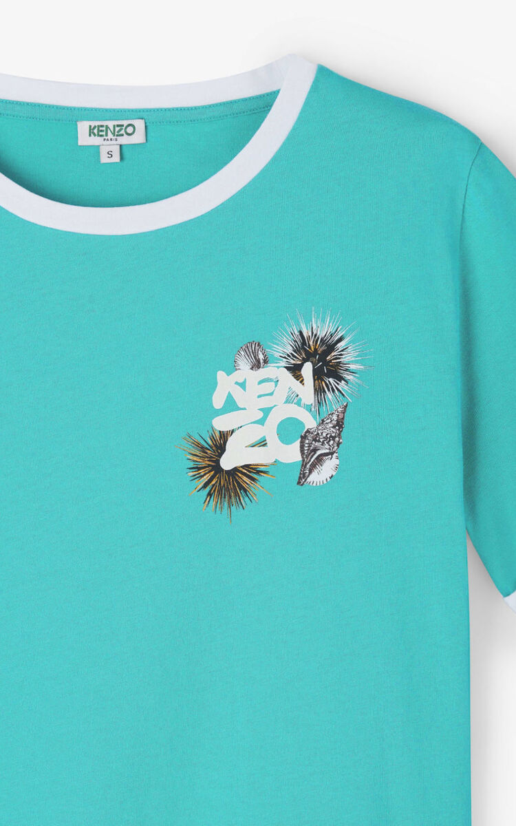 MINT 'High Summer Capsule Collection' 'Seashells & Urchins' t-shirt for women KENZO