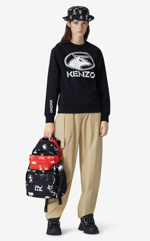BLACK 'KENZO Ox' sweatshirt for women